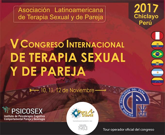 Caratula V congreso internacional de terapia sexual y de pareja psicosex chiclayo peru