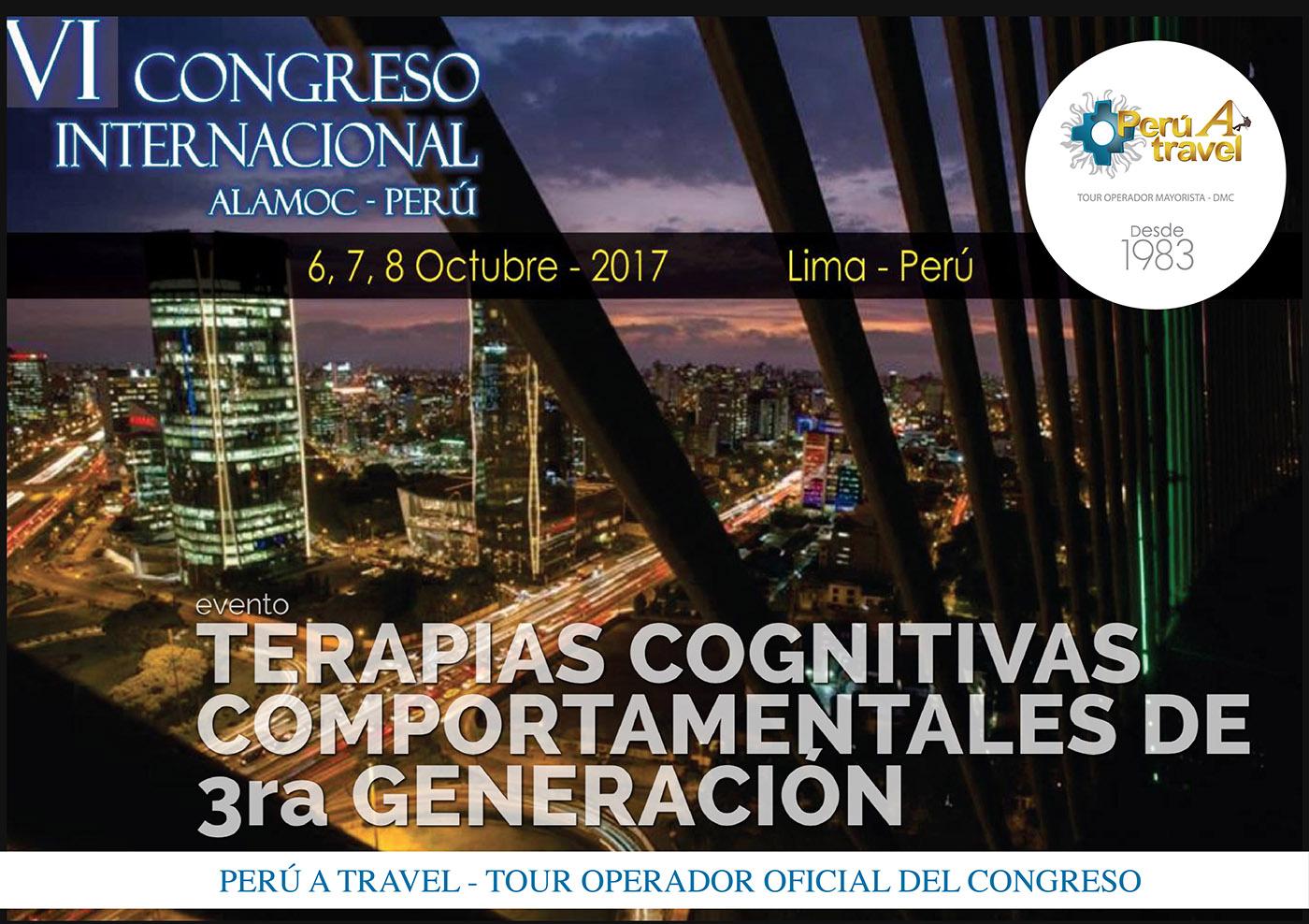 congresos alamoc 2017 terapia cognitiva comportamentales peruatravel peru a travel